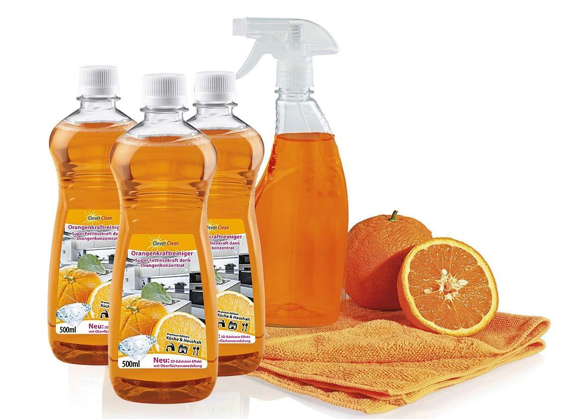 Limpio de limpieza a la naranja-Set 4-unidades: Amazon.es: Hogar