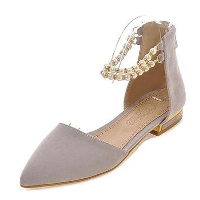 SJJH Damen Dress Closed-Toe Sandalen mit Blockabsatz rDMdoWGS