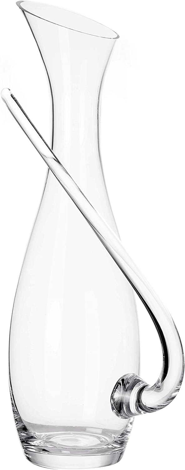 Glass Water Pitcher - 47 Ounces Cold and Hot Water Carafe - Heat Resistant borosilicate Kettle, with Unique Flying Handle Pattern, - Great for Wine Tea, Juice, Water - Hot and Iced, By Stone boomer