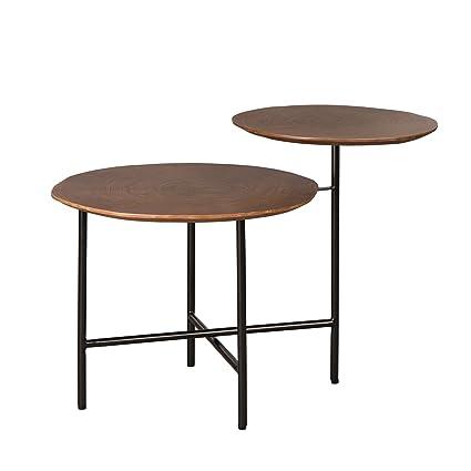Brilliant Glitzhome Modern Double Walnut Tree Ring Veneer Mushroom Like Shape Side Table Download Free Architecture Designs Ferenbritishbridgeorg