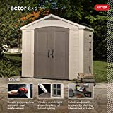 Keter Factor 8x6 Large Resin Outdoor Shed for Patio