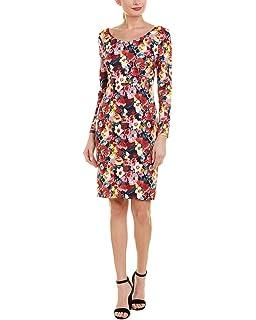 ba09f382100c2e Betsey Johnson Women's Long Sleeve Scuba Crepe Midi Dress at Amazon ...