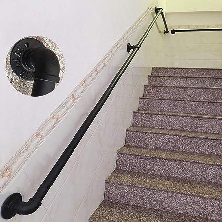 30-650cm Opcional, Kit de pasamanos Hierro Forjado Barandilla de escaleras Viento Industrial Apoyabrazos de tubería de Agua, Diámetro del Tubo de 3,2 cm: Amazon.es: Hogar