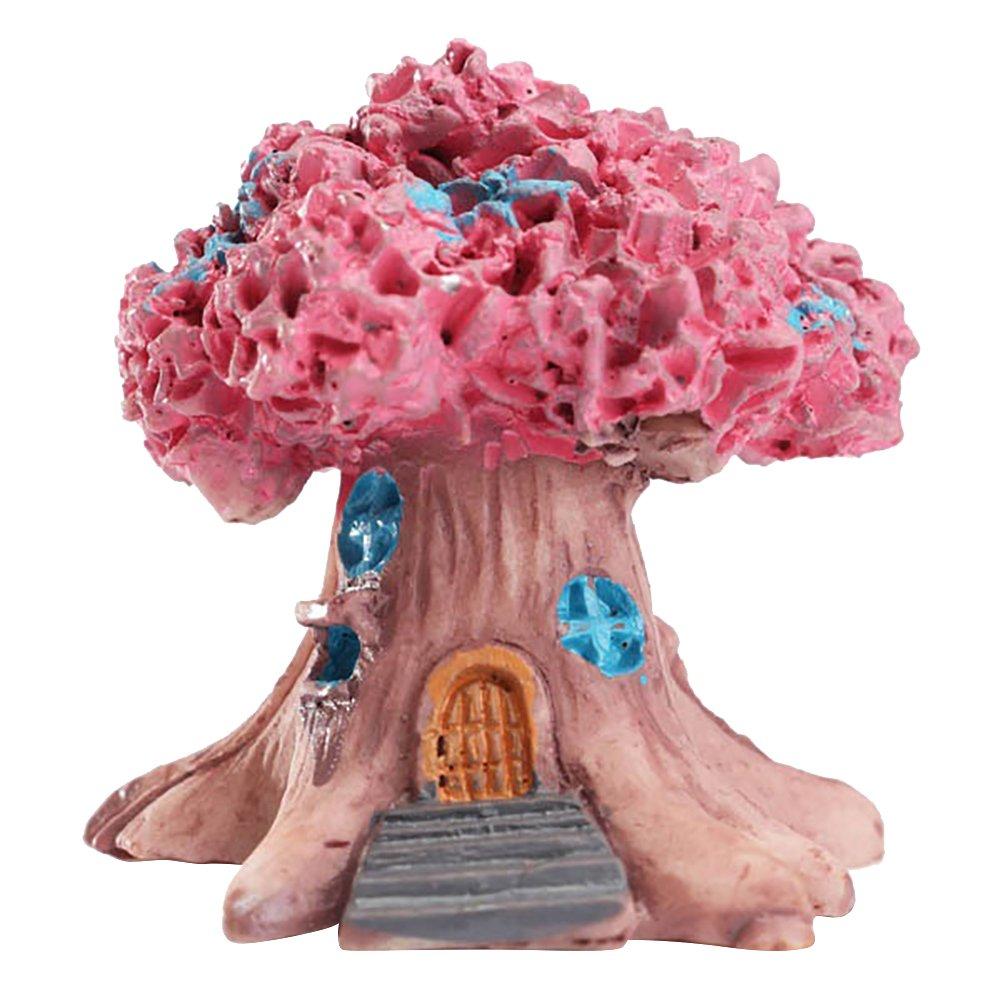 funie Mini Fairy Tree House Miniature Garden Micro Landscape Ornament Craft Decor