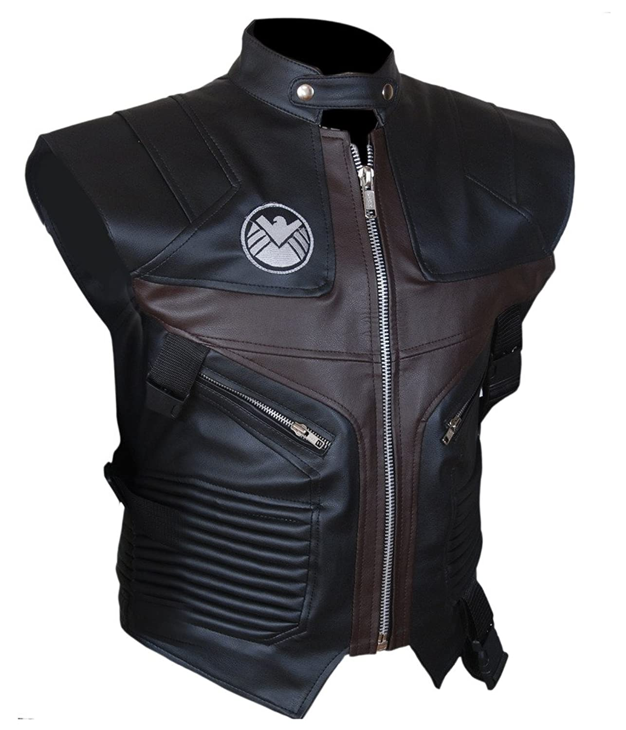 F&H Men's Avengers Age of Ultron Hawkeye Jeremy Renner Genuine Leather Vest