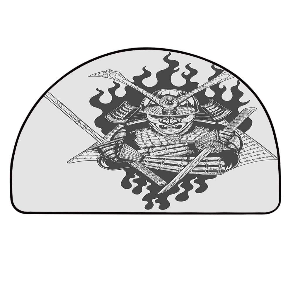 Amazon.com : YOLIYANA Japanese Semicircle Rug, Fearsome ...