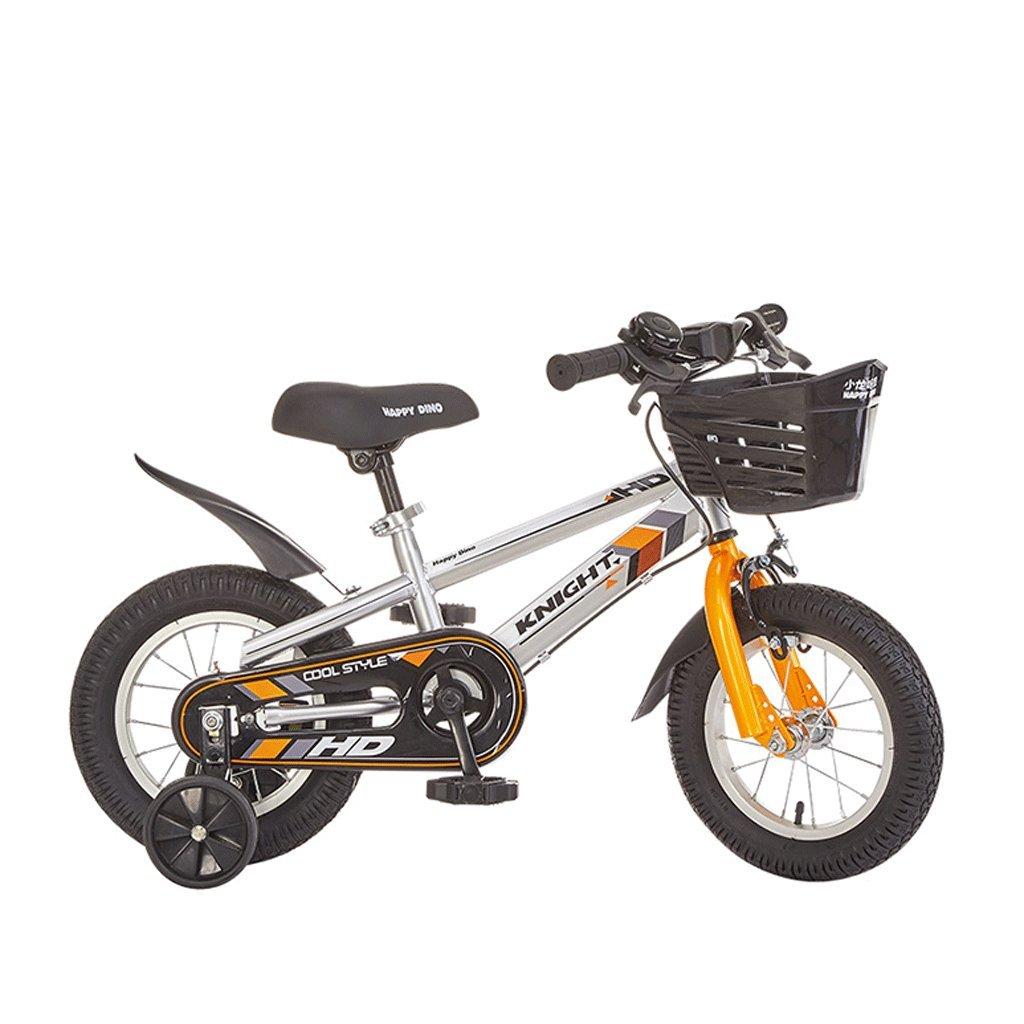 DGF 子供の自転車3-12歳の赤ちゃんのキャリッジの男の子と女の子の自転車マウンテンバイク (色 : オレンジ, サイズ さいず : 14 inches) B07F2G861X 14 inches|オレンジ オレンジ 14 inches
