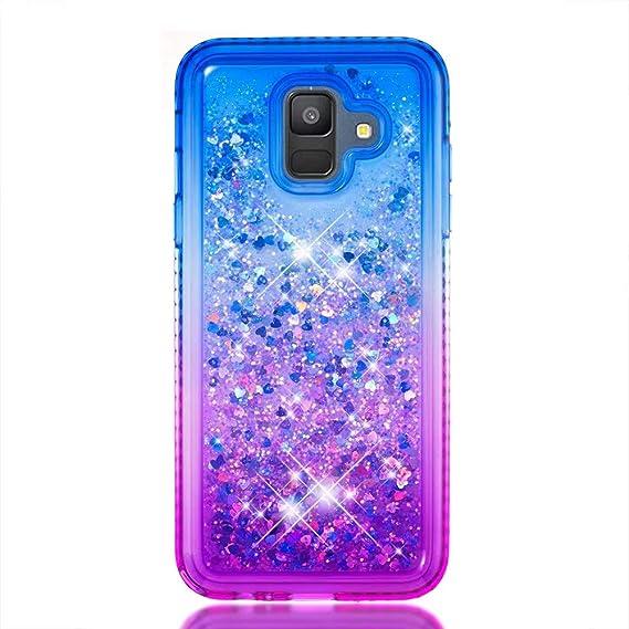 samsung galaxy a6 glitter liquid case