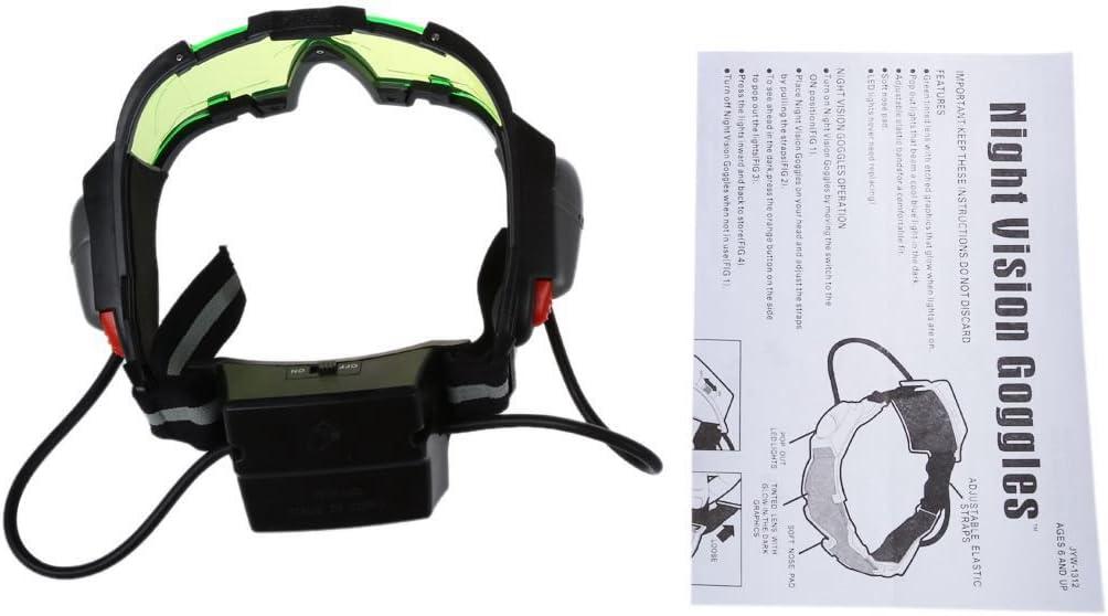 Gafas de vision nocturna con azul flip-fuera llevaron luces,Night Vision Goggles R SODIAL