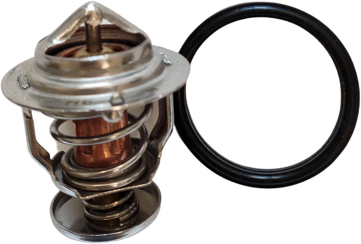 KRRK-parts Thermostat 129155-49800 fits for Komatsu Case Kobelco with Yanmar 3TNE84 3TNE88 3TNA72 3TNE78A 4TNE84 4TNE88 Engine