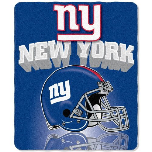NFL New York Giants Gridiron Fleece Throw, 50-inches x 60-inches ()