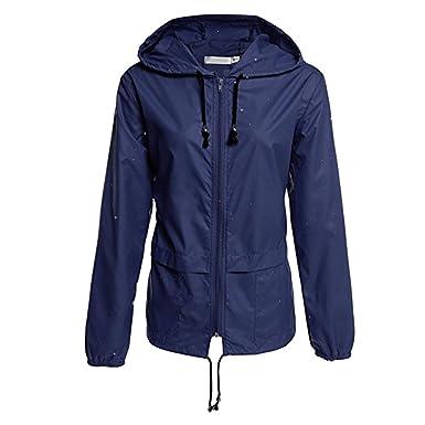 Imperméable De Pluie Coupe Extérieur Manteau Outwear Capuche Veste Decha Zippé Parka Pour Femme Respirant Vent Jogging fY7gb6y