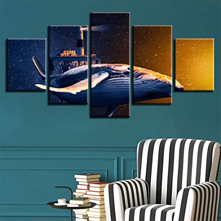 WSNDGWS HD Sea Shark Inkjet Pintura Multi-Decorativa Artista ...