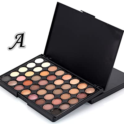 Eyeshadow Powder????DEESEE(TM)???? 40 Colors Shimmer Set Available Matte Pearl Glitter Cosmetic Waterproof Luster Non Discolor Eye Shadow Palette (A)
