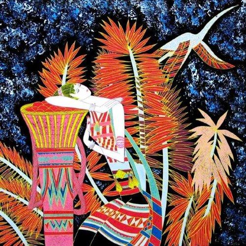 "Vietnamese Lacquer Paintings - 16"" x 16"" CSC11"