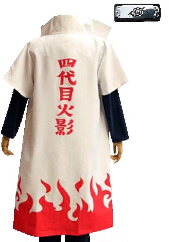Anime Naruto Namikaze Minato Halloween Party Cloak Cape Coat Cosplay Costume