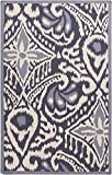 Surya Kate Spain MRS2005-3353 Hand Woven Casual Accent Rug, 3-Feet 3-Inch by 5-Feet 3-Inch, Navy/Beige/Sky Blue