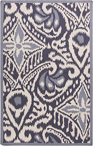 Surya Kate Spain MRS2005-3353 Hand Woven Casual Accent Rug, 3-Feet 3-Inch by 5-Feet 3-Inch, Navy/Beige/Sky Blue by Surya
