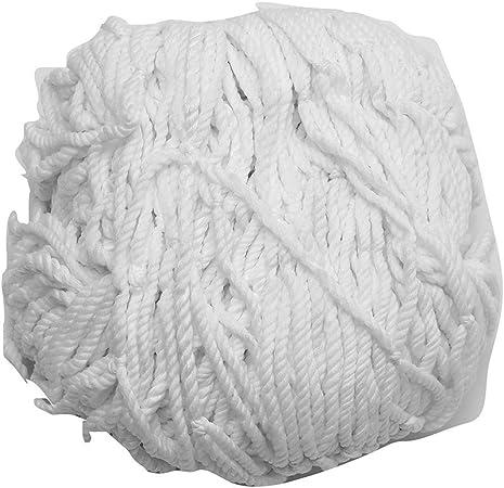 Keenso 3 x 2 m Polypropylen Faser Fu/ßballtor Netz Fu/ßballtor Netz Wei/ß Fu/ßballnetz Ersatz Fu/ßballtor Netz