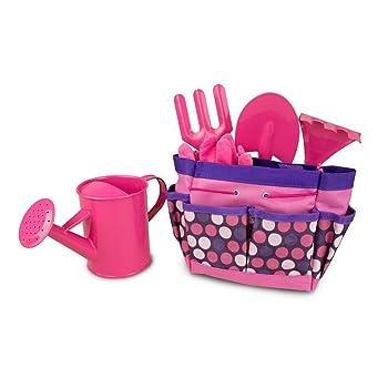 Gardenline Pink Wooden Gardening Tools