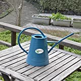 Calunce fashion rustic retro textured gardening tools long spout watering can ,blue