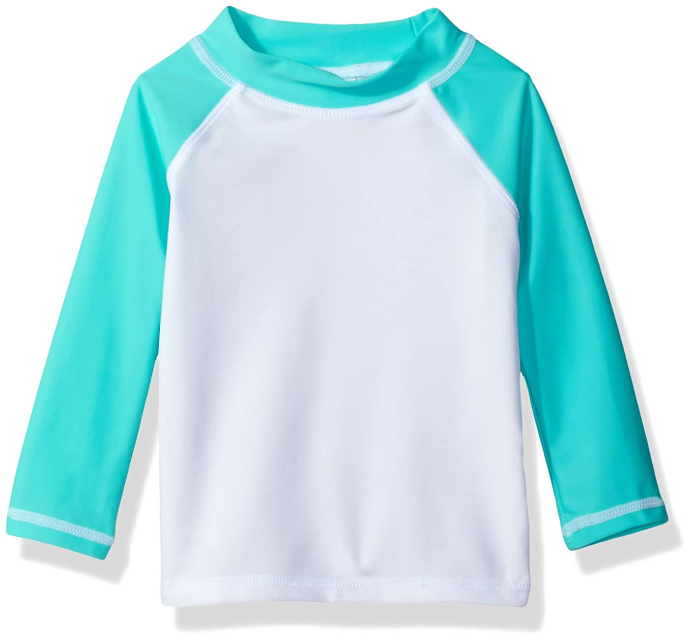 Flap Happy Baby Girls' UPF 50+ Colorblock Rash Guard/Swim Top RLK7AZ-PR