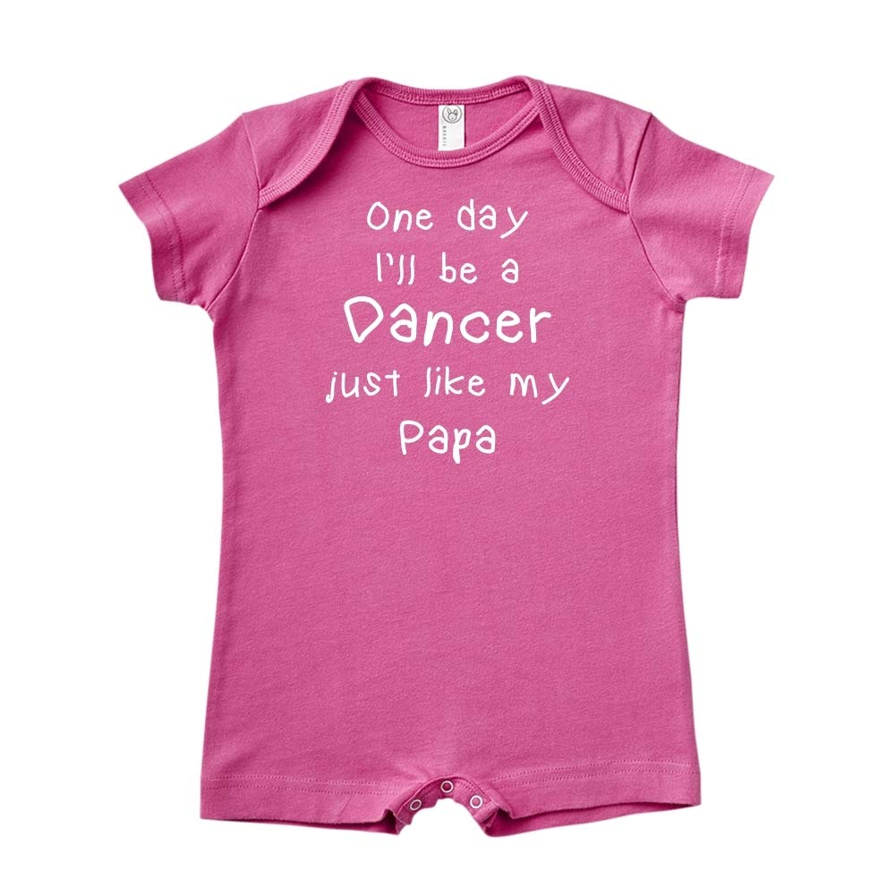 One Day Ill Be A Dancer Just Like My Papa Baby Romper