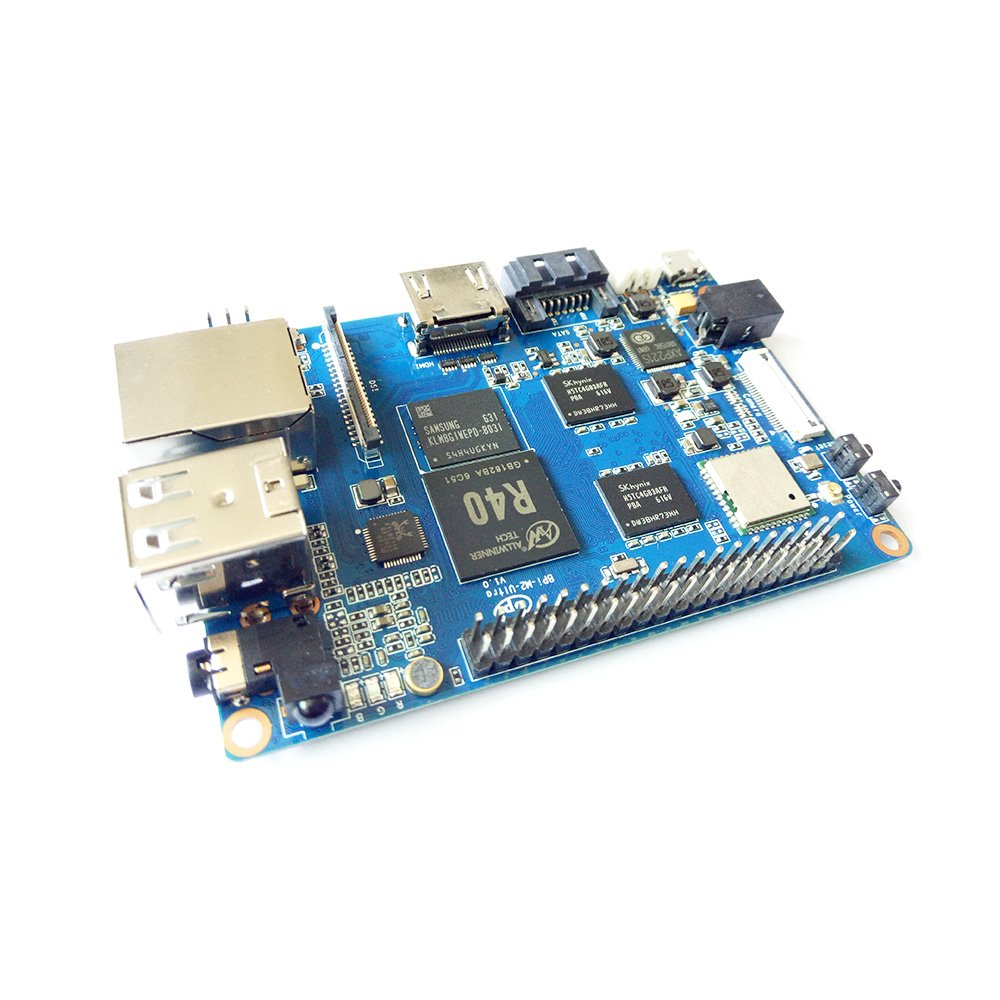 Banana Pi BPI M2 Ultra R40 Quad-Core 2GB DDR3 RAM with SATA WiFi Bluetooth 8GB eMMC demo board Single Board Computer by SmartFly Info (Image #2)