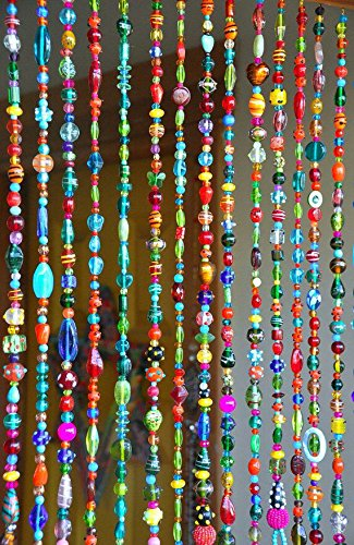 Rasmy Candles Multicolour Crystal Beaded Hanging Bohemian Wall Art