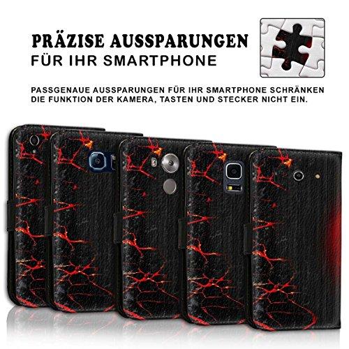 Wallet Book Style Flip Handy Tasche Case Schutz Hülle Schale Motiv Etui für Apple iPhone 5 / 5S - Design Flip MV244