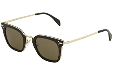8cfcde2e56235 Image Unavailable. Image not available for. Color  Sunglasses Celine 41402 S  0ANT Dark Havana Gold ...