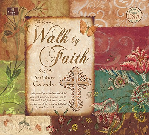 Legacy Publishing Group 2016 Wall Calendar, Walk By Faith (WCA19979)