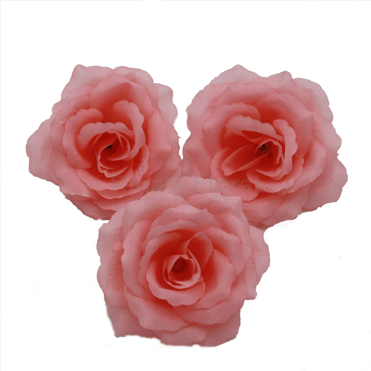 with leaves and long stems 10-100pcs Coral Silk Roses Head Artificial Roses Flower Head for Wedding Bouquets Wall Decoration Centerpieces