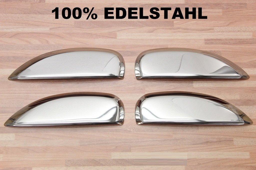Cubiertas cromadas para manijas de puertas, de acero inoxidable, para coches Dacia Logan, Sandero II a partir del 2013 y Stepway: Amazon.es: Coche y moto