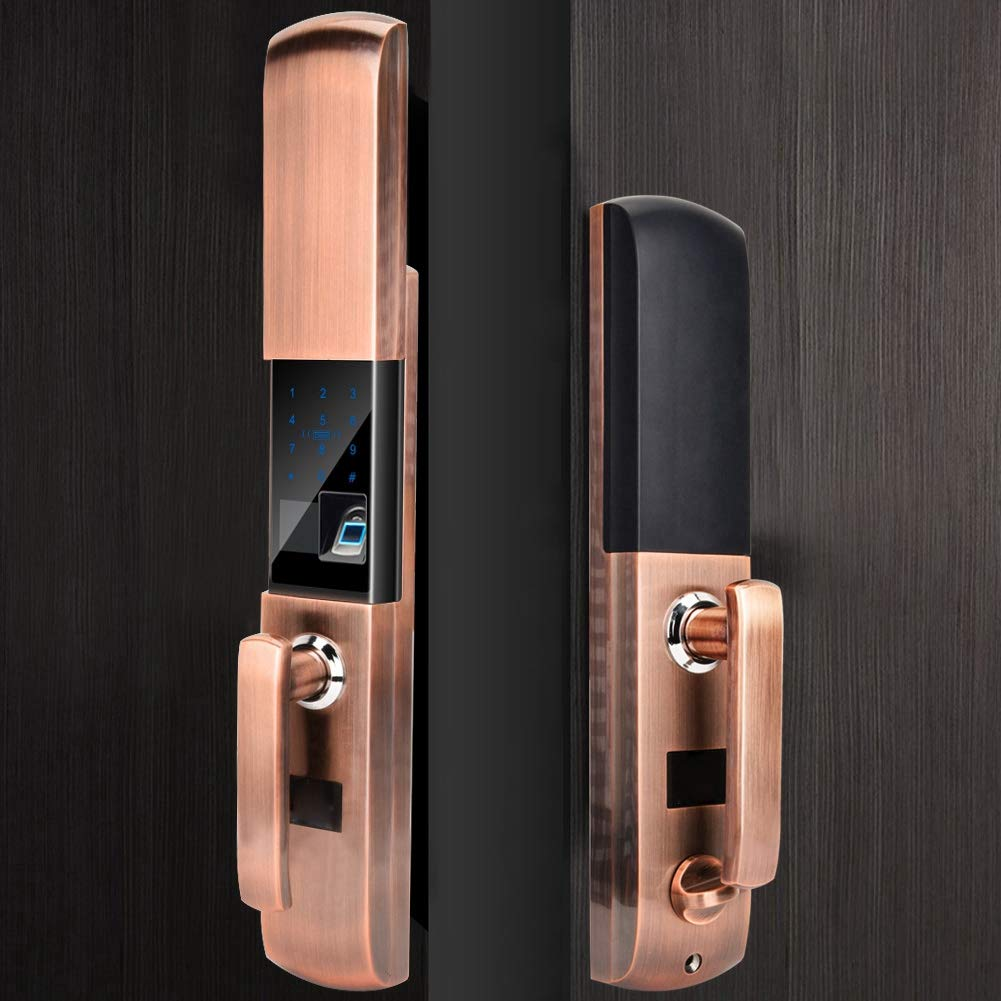 Fingerprint Password Door Lock, Smart Keyless Electronic Touch Lock Anti-Theft Security System for Home Office Apartment