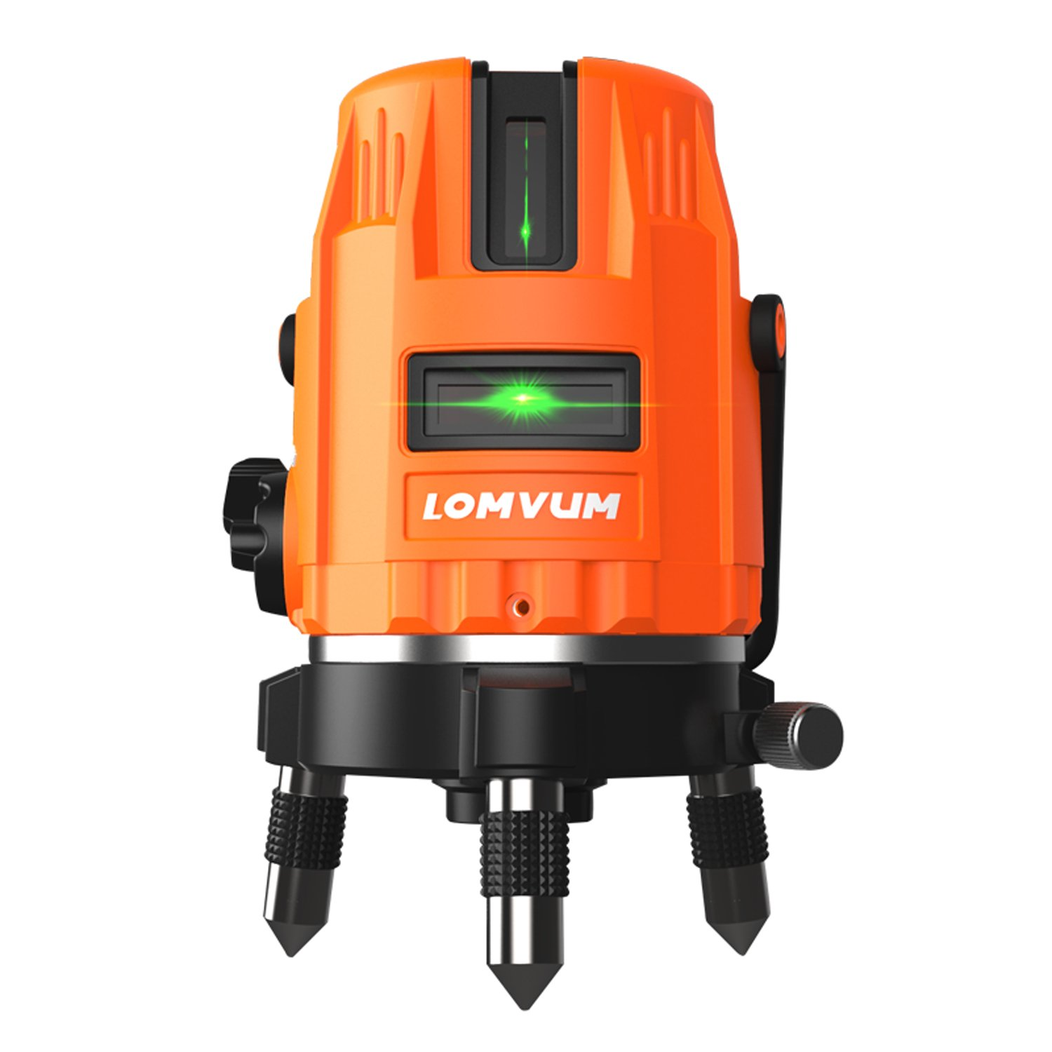 Self-leveling Laser Level,LOMVUM 100ft Highlight Green Vertical Cross-Line Laser Level 360 Rotary Kit with Outdoor Mode And Tilt Mode (5-Bean)