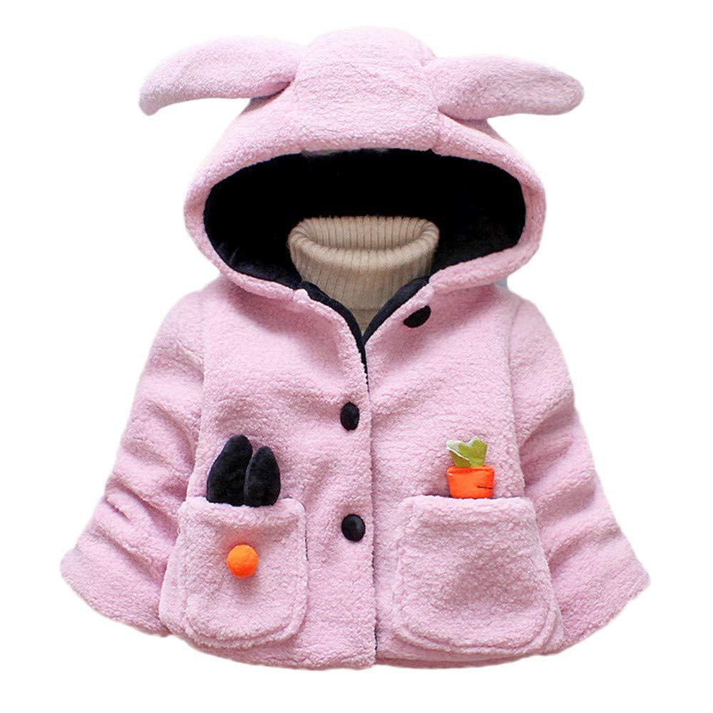 Lurryly❤Unisex Jackets,Boys Girls Winter Long Sleeve Outwear Ears Coats Hooded for 1-4 T