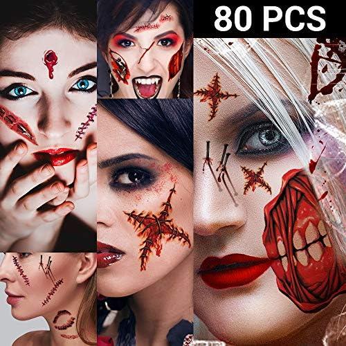 Zombie Halloween Tattoos Healthy Waterproof