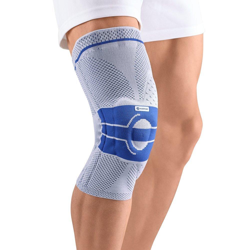 Bauerfeind GenuTrain Right A3 Knee Support (Titanium, 4)