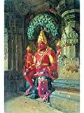 Statue of Vishnu in the temple of Indra in Ellora (Poster)