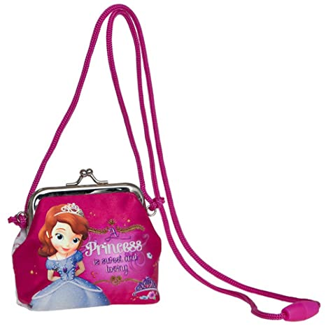 Disney Princesa Sofia Bolso Bandolera Monedero, Fucsia ...