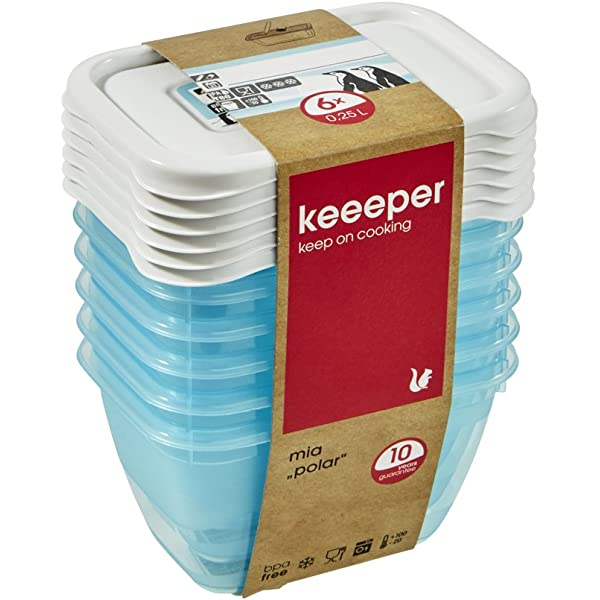 """6er Set Keeeper gefrierdose /""""Mia Polar/"""" rond 0,2 litres"""