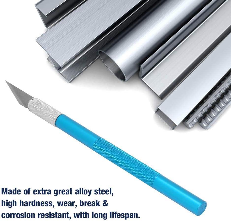 145mm x 7.8mm f/ür DIY Art Work Cutting Schnitzwerkzeug Cuttermesser Skalpell Basteln Schnitzmesser Blau