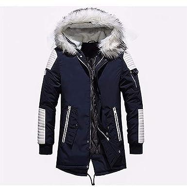 f11b6f7d87f9 Black Long Man Winter Jacket Men Warm Fur Mens Jackets and Coats Zipper  Down MP029
