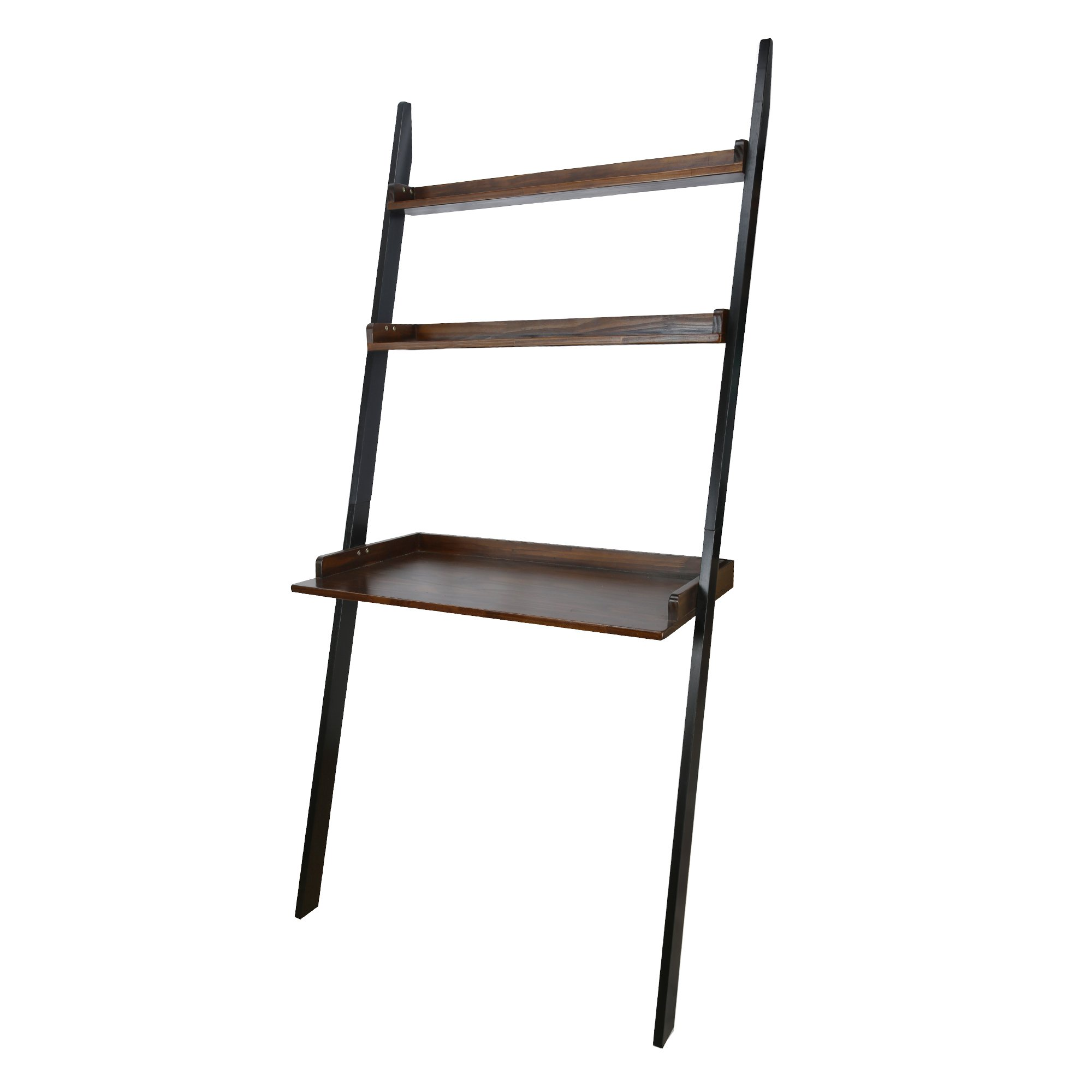 Casual Home 317-17 SoHo Leaning Bookcase, Two-Tone (Mocha, Black) by Casual Home