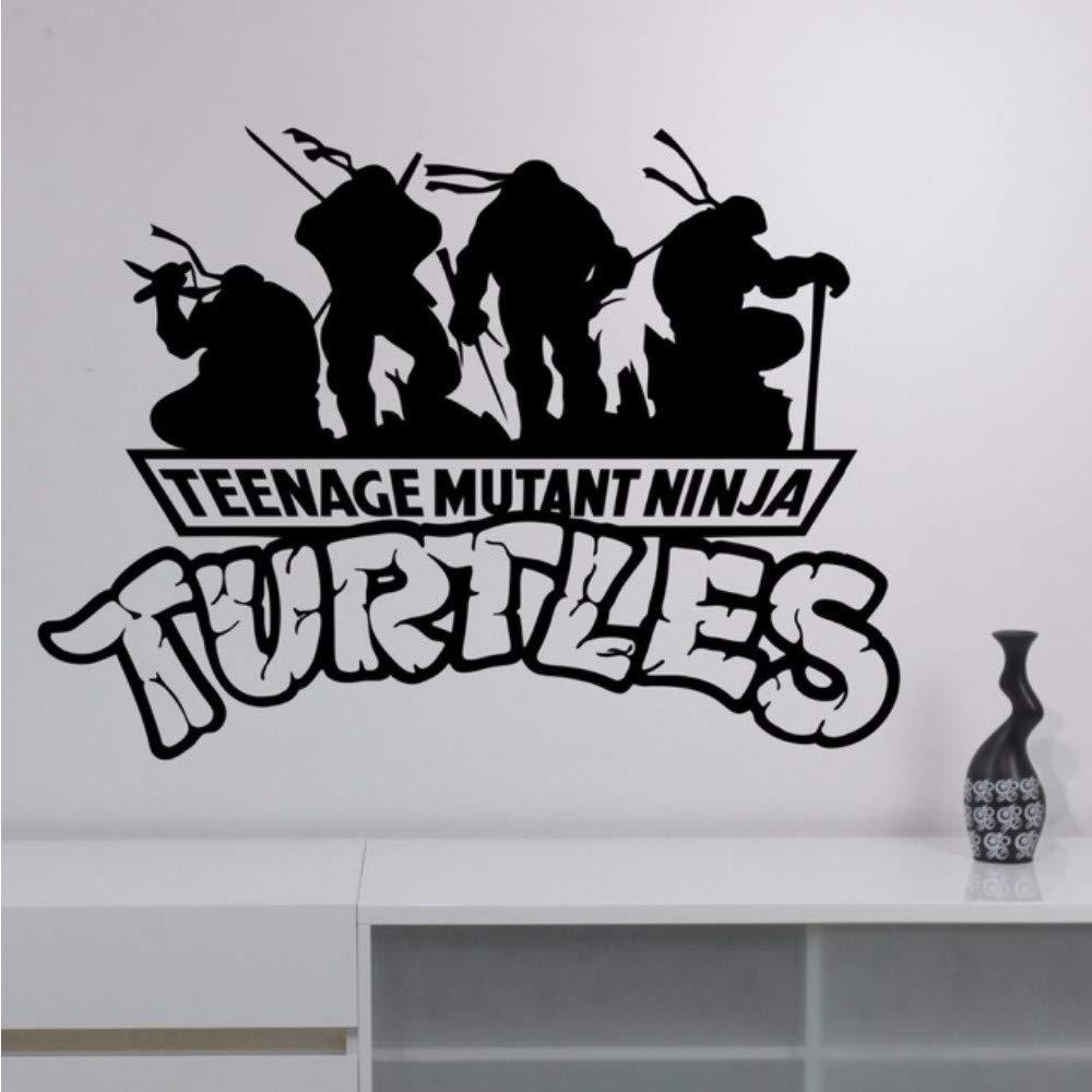 Waofe Tortugas Ninja Vinilo Tatuajes De Pared De Dibujos ...