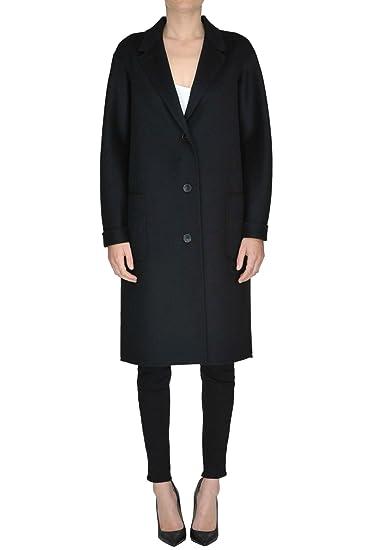 on sale be6e6 0a22f Amazon.com: Jil Sander EZGL035008 Women's Black Wool Coat ...
