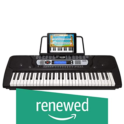 RockJam 54-Key Portable Electronic Keyboard with Interactive LCD Screen &  Includes Piano Maestro Teaching App with 30 Songs (Renewed)