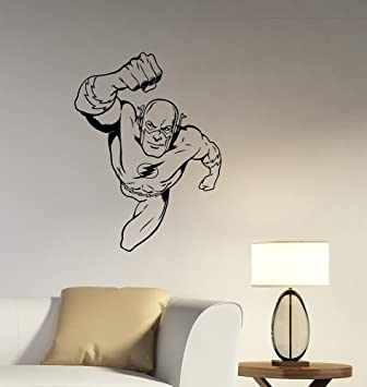Amazoncom Flash Removable Wall Sticker Vinyl Decal DC Comics - Wall stickers for bedrooms teens