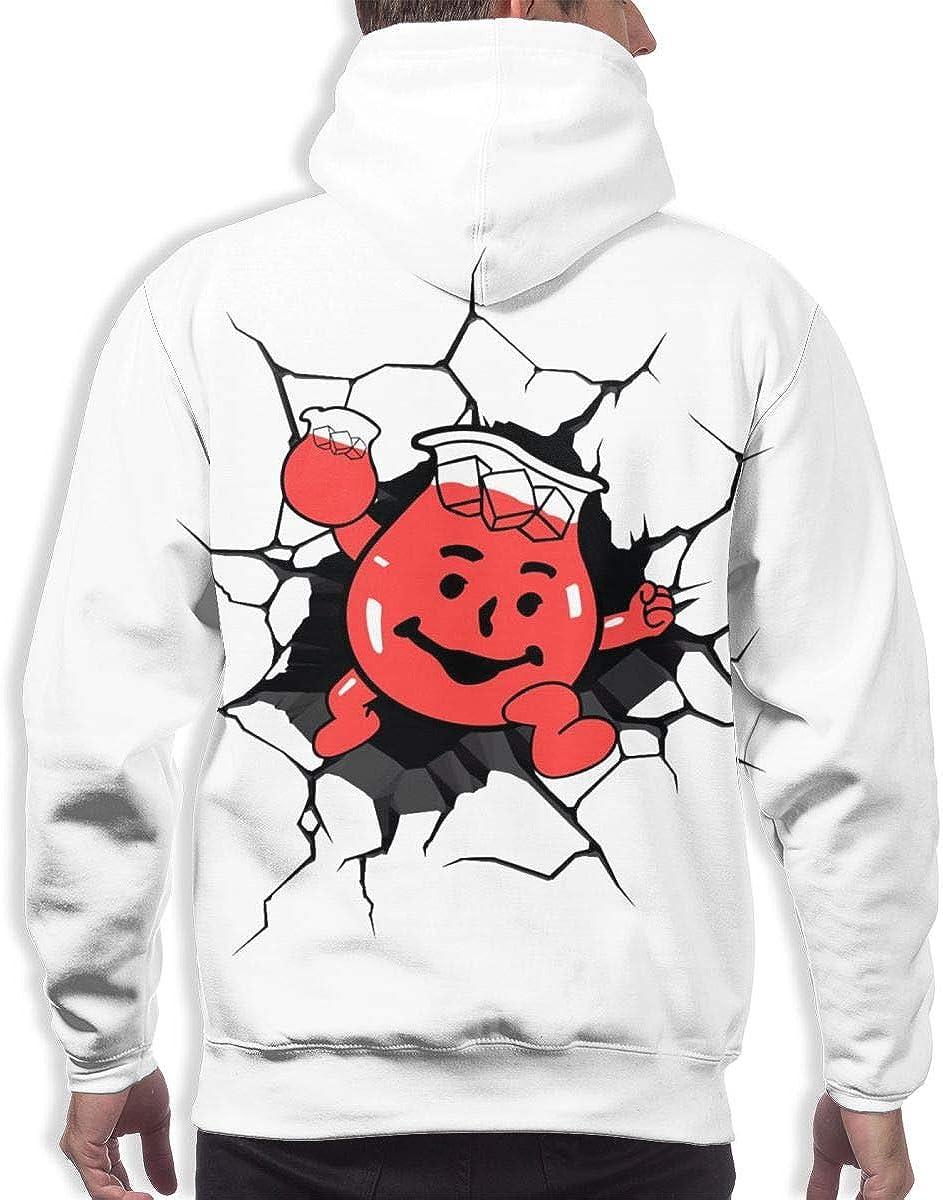 LEOUMAOYE Kool Aid-Man Mens 3D All Print Hooded Sweatshirt
